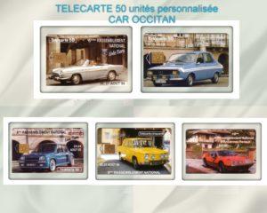 Télécartes neuves du C.A.R Occitan